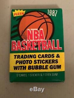 1987-88 fleer basketball complete card set 1-132 Jordan, Barkley, Akeem Rookies