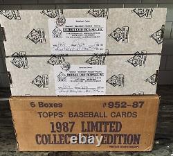 1987 Topps Tiffany Baseball Complete Set BBCE FASC Authenticated Bonds Mcgwire