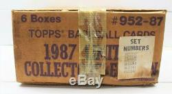 1987 Topps Tiffany Complete Factory Sealed Case of 6 Baseball Card Sets