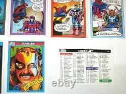 1990 Marvel Universe Series 1 Complete 162 Card Set Nm! Stan Lee! Spider-man