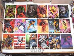 1992 1993 1994 Marvel Masterpieces Complete Card Sets X-men Joe Jusko Wolverine