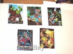 1992 1993 1994 Marvel Masterpieces Complete Master Card Sets! 37 Inserts Venom