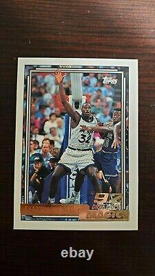 1992-93 Topps Gold Basketball Complete Set With 7 Beam Team Cards + Shaq Rc