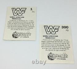 1992 Merlin WWF Empty album + Complete set 300 stickers Hulk Hogan Hit Man