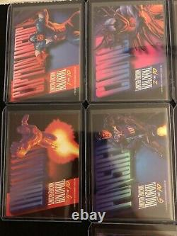 1994 Fleer Marvel Masterpieces Trading Cards Holofoil Chase Complete set 1-10