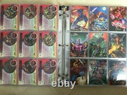 1994 Marvel Flair Annual COMPLETE BASE SET + all 18 PowerBlast Cards + 4 boxes