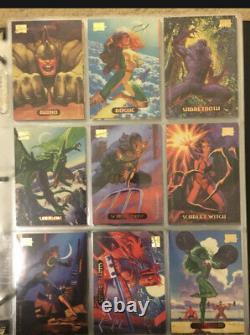 1994 Marvel Masterpieces Trading Cards COMPLETE BASE SET, #1-140 NM/M! Fleer