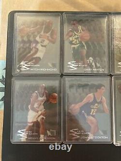 1995-96 Fleer Metal Slick Silver FULL SET with Michael Jordan 10 Cards Complete