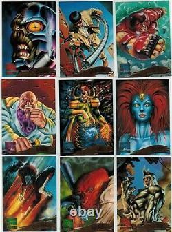 1995 MARVEL MASTERPIECES SERIES IV 4 FLEER COMPLETE CARD SET #1-151 X-Men