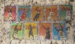 1996-97 Z-Force Slam Cam Complete Set of 9, Michael Jordan, O'Neal, Kemp, Penny