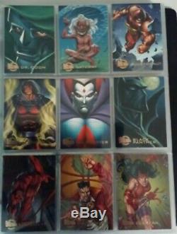 1996 Marvel Fleer Ultra Onslaught complete base, hero, mission, mirage card sets