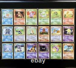 1996 Pokemon Base Set COMPLETE Non Holo Cards Lot RARE Japanese Edition NM+ MINT