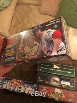1999, 2000, 01, 02, 03, 04 Topps Baseball Card Complete Sets