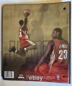 2003-04 LeBron James Rookie UD 4 Complete card sets 155 Cards In Total W Binder