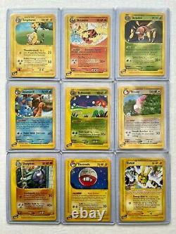 2003 Pokemon E-Series Aquapolis Complete Set All 182/147 Include Crystal Cards