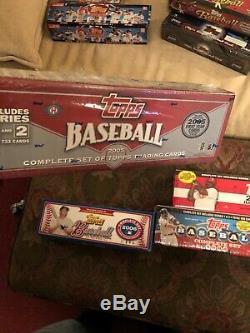 2005, 06, 07, 08 Topps Baseball Card Complete Sets