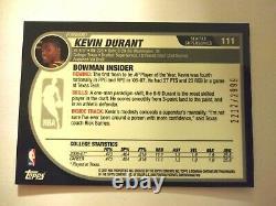 2007-08 Bowman Chrome COMPLETE 160 Card Set Kevin Durant ROOKIE /2999