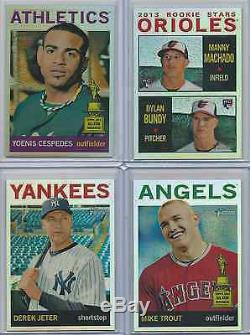 2013 Topps Heritage Chrome Refractor Complete Set #HC 1-100 /564 Trout Jeter