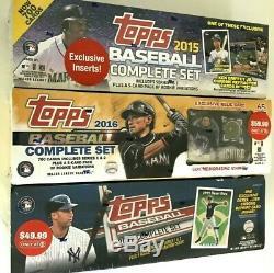 2015, 2016 & 2017 Topps Baseball Complete Factory Set Combo (read Description)