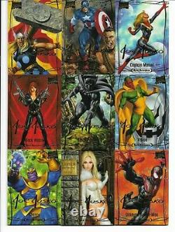 2016 Upper Deck Marvel Masterpieces Gold Jusko Tier 1, 2, 3 Complete 81 Card Set