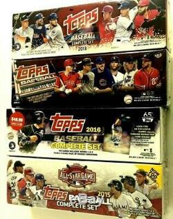 2018,2017,2016 & 2015 Topps Baseball Complete Factory Set Combo (4 Set Lot)