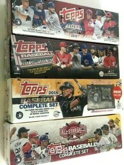 2018,2017,2016 & 2015 Topps Complete Factory Set Combo
