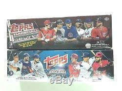 2018 Topps Retail & 2017 Topps Hobby Baseball Complete Factory Set Combo