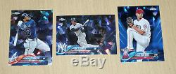 2018 Topps Sapphire Chrome complete blue refr 702-card set Acuna Torres Ohtani