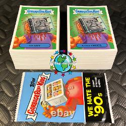 2019 GARBAGE PAIL KIDS WE HATE THE 90's! COMPLETE 220-CARD SET +WRAPPER! 1990's