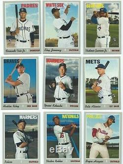 2019 TOPPS HERITAGE HIGH NUMBER COMPLETE 225 Card SET PLUS (3) INSERT SETS