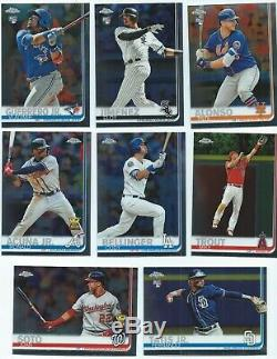 2019 Topps Chrome COMPLETE 204 Card SET & (4) COMPLETE INSERT SetS
