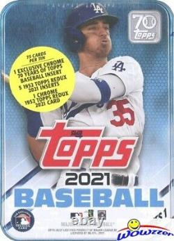 2021 Topps Series 1 Baseball Complete 6 Box TIN SET-450 Cards-Trout, Judge, Acuna+