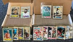 2 Complete Topps Football Card Sets 1982 1-528 & 1983 1-396 Nm Mint