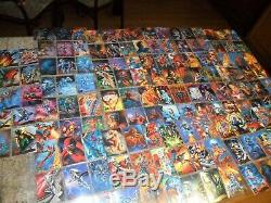 2 LOT 1994 Marvel Masterpieces Complete 140 Card Base Sets with 14 GOLD Signature