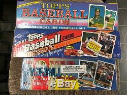 3 Topps Factory Sealed Complete Baseball Card Sets 1989 1994 1993 DEREK JETER RC