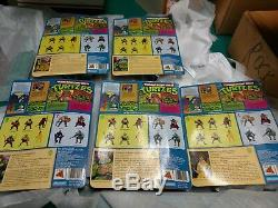 5 TMNT Teenage Mutant Ninja Turtles 1988 Complete Set of Carded Turtles MOC