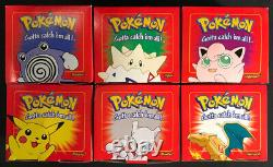 Burger King Pokémon Pokeball 23K Gold-Plated Card Complete Set Of 6 Sealed