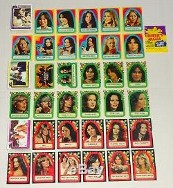 CHARLIE'S ANGELS TV Show 1977 Series 1 2 3 Topps Card Set Sticker Sets Complete