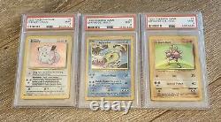 COMPLETE Holo Base Set Unlimited 1999 PSA 9 Graded Pokemon Cards 1-16