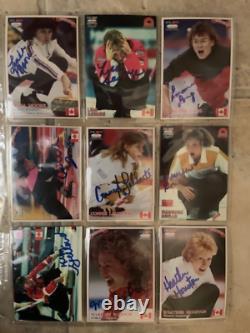 COMPLETE ICE HOT 1993-4 curling card sets (116) 53 AUTOGRAPHED SCHMIRLER ++++