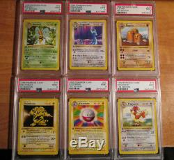COMPLETE Pokemon PSA-9 1st edition NON-HOLO Card BASE Set/102 First Shadowless