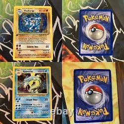 Complete Base Set Pokemon Card Collection 102/102 Original Charizard Holo LP