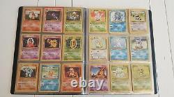 Complete Base Set Pokemon Cards 102/102 100% charizard promos folder extra holos