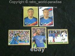 Complete Set Mbappe Panini Carrefour 2018 5 Stickers Images Gold Silver Action