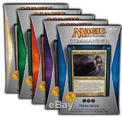 Complete Set of Five Commander 2013 Decks Sealed Mtg Magic Cards Unboxed