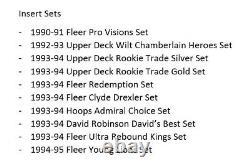 Huge 1989-2001 35 Complete Basketball Card Sets Jordan Shaq Kobe Bird Magic Read