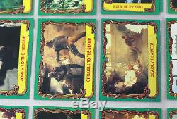 Indiana Jones Raiders of the Lost Ark / Temple of Doom Complete Card Sets Lot