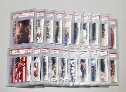 LEBRON JAMES 2003-04 UD Phenomenal Beginning ROOKIE RC 20 Complete set PSA10