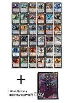 Liliana sleeve, War of the spark Japanese Alternate-art P/W complete set 36 card