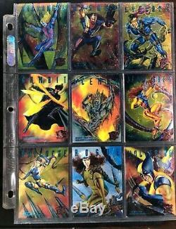 Lot 1995 Fleer Metal Ultra Marvel Complete 138/150 Card Sets W Asst Inserts